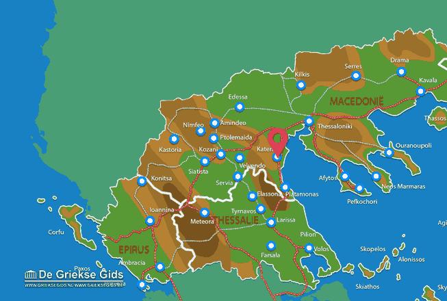 Karte Katerini