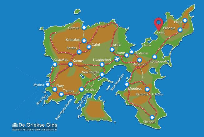 Karte Kavirio