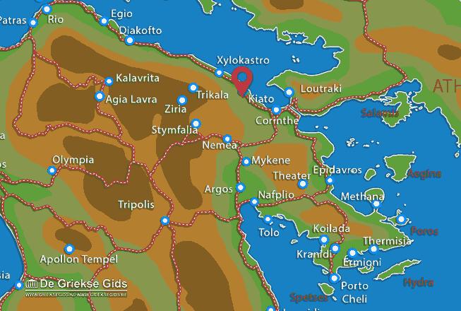 Karte Sikyon