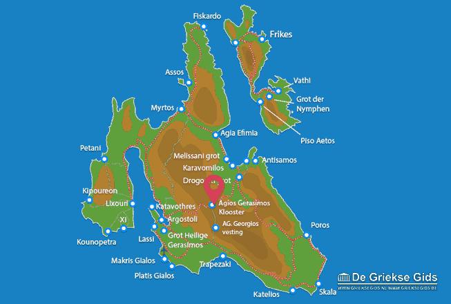 Karte Agios Gerasimos Kloster