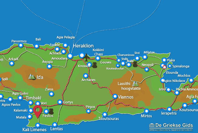 Karte Odigitria Kloster