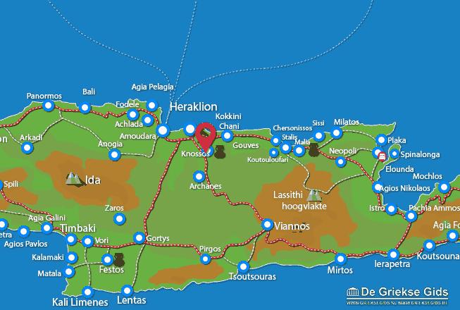 Karte Knossos