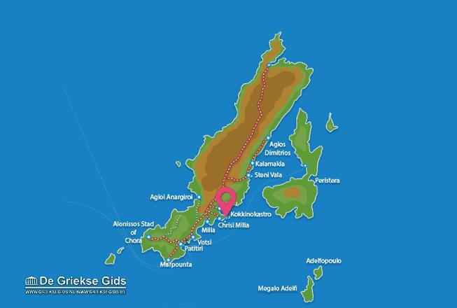 Karte Kokkinokastro