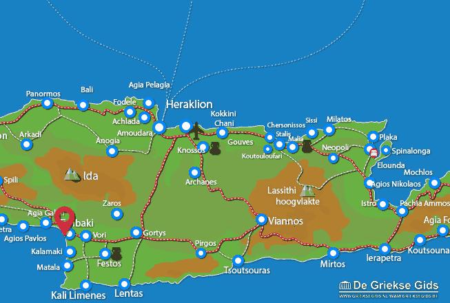Karte Kokkinos Pirgos