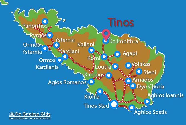 Karte Kolimbithra