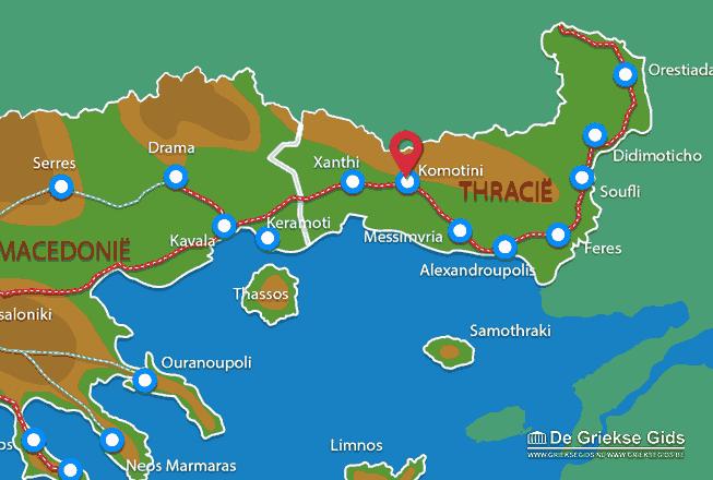 Karte Komotini