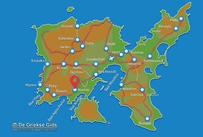 Karte Kontias