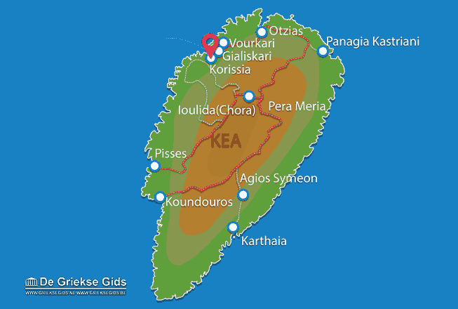 Karte Korissia