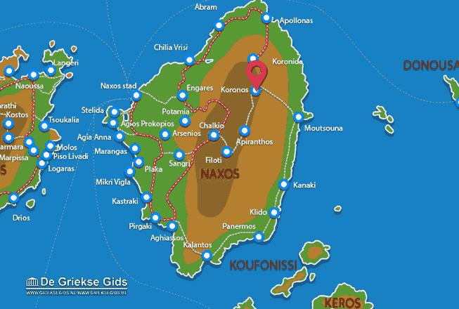 Karte Koronos