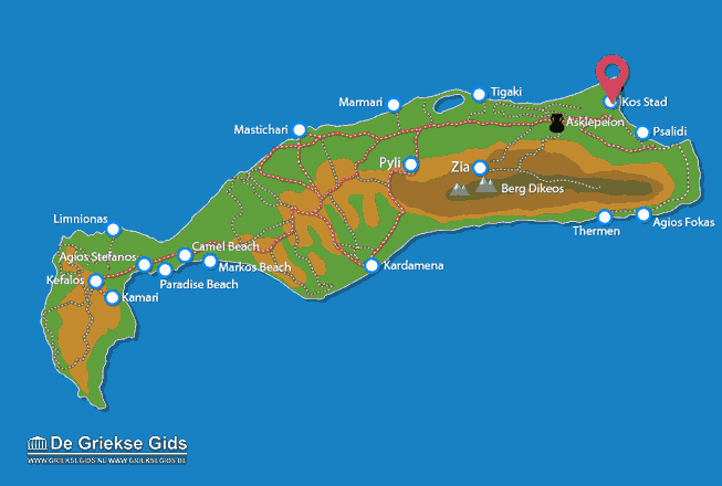 Karte Kos Stadt