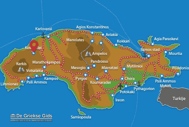 Karte Kosmadei