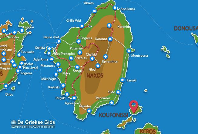 Karte Koufonissi