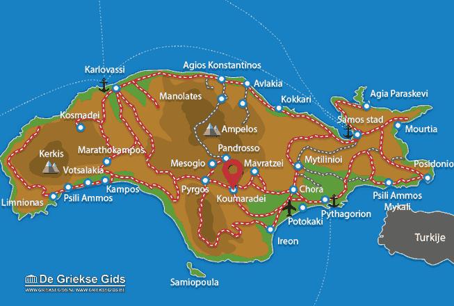 Karte Koumaradei