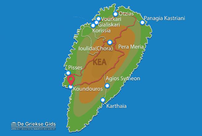 Karte Koundouros
