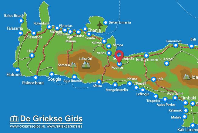 Karte Kournas