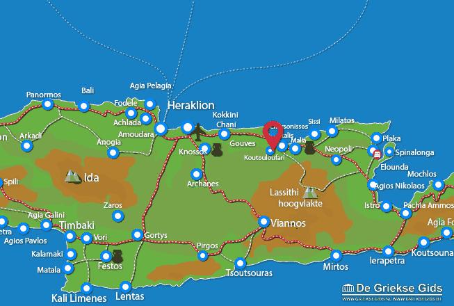 Karte Koutouloufari