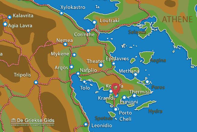 Karte Kranidi