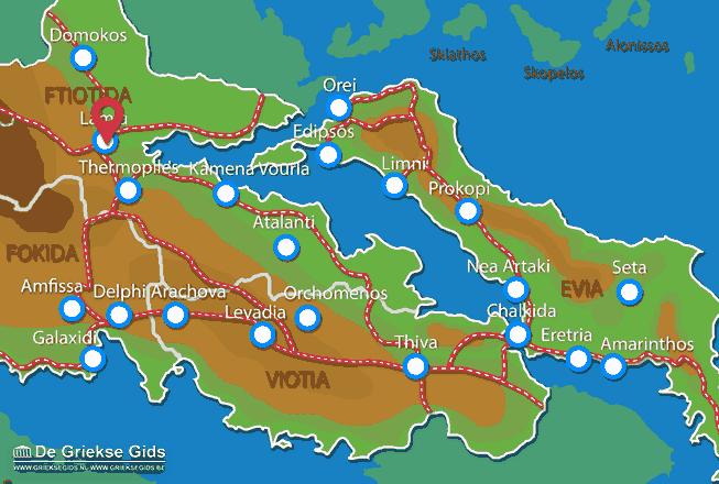 Karte Lamia