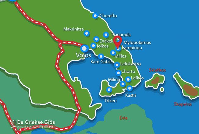 Karte Lampinou Pilion