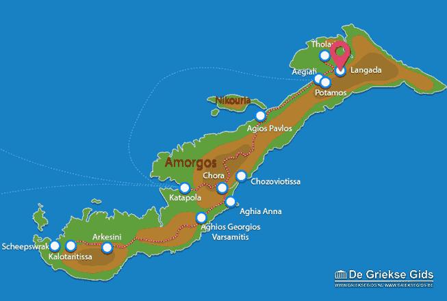Karte Langada