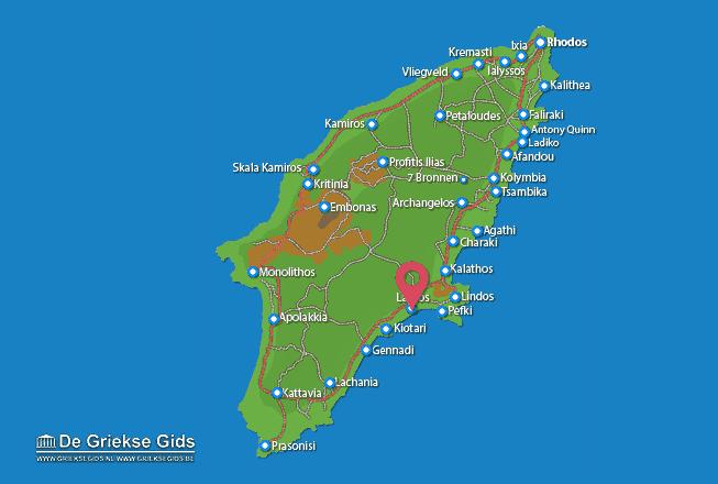 Karte Lardos