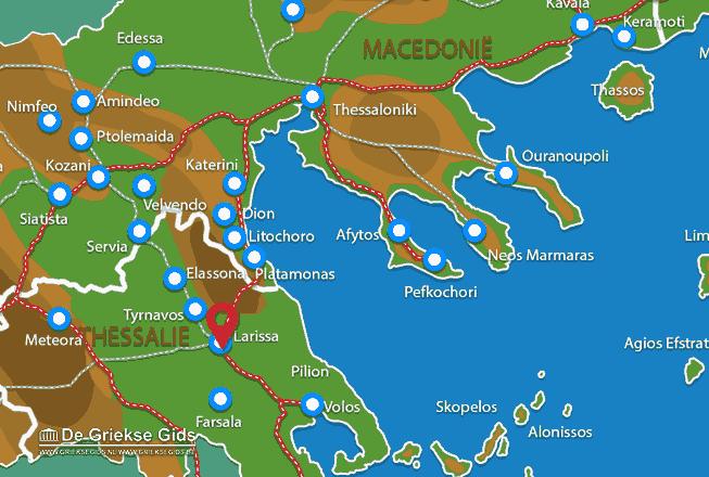 Karte Larissa Stadt