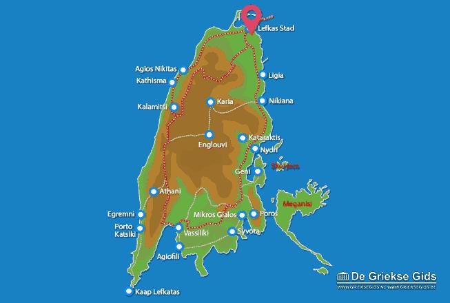 Karte Lefkas Stadt