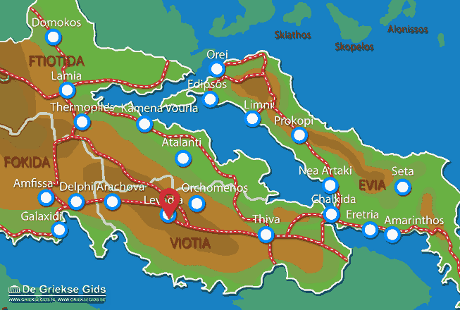 Karte Levadia