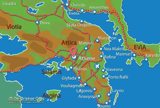 Karte Lykavittos Athen