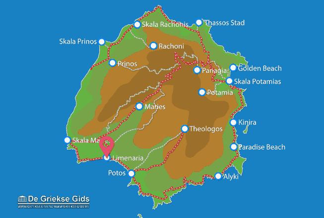 Karte Limenaria