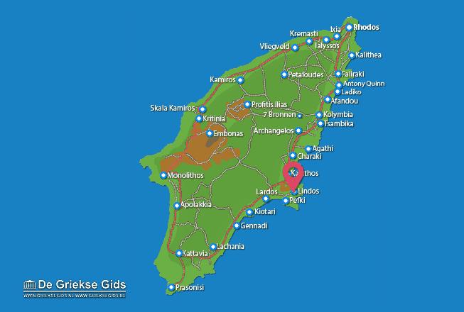 Karte Lindos