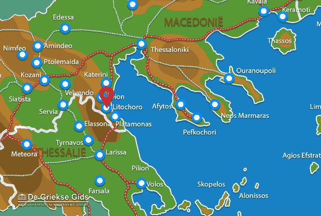 Karte Litochoro