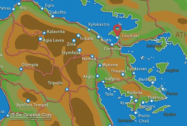 Karte Loutraki