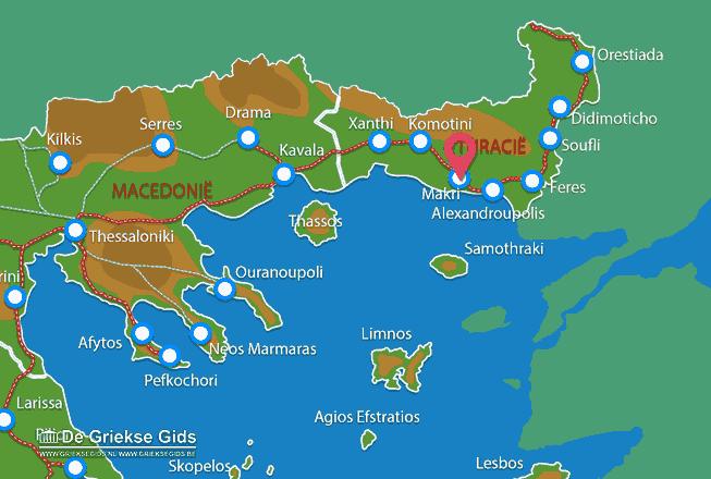 Karte Makri