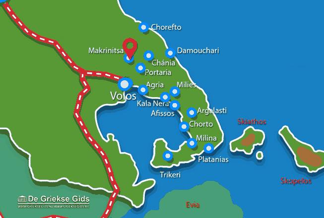 Karte Makrinitsa Pilion