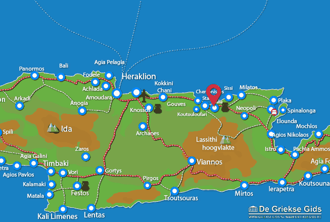 Karte Malia