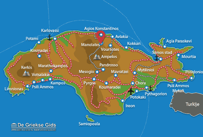 Karte Manolates