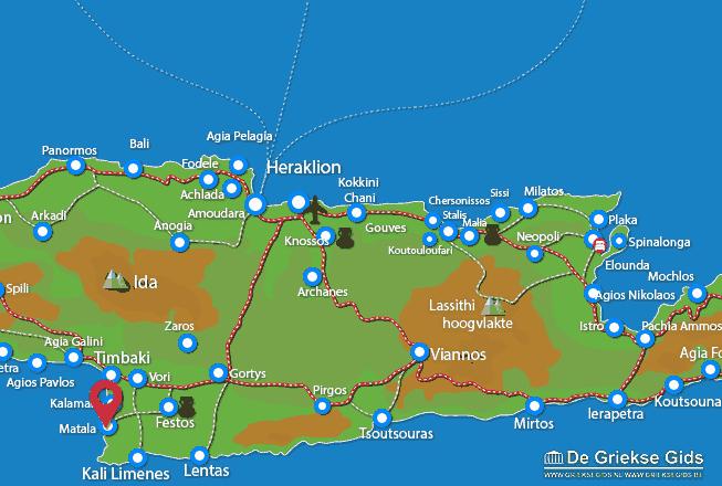 Karte Matala