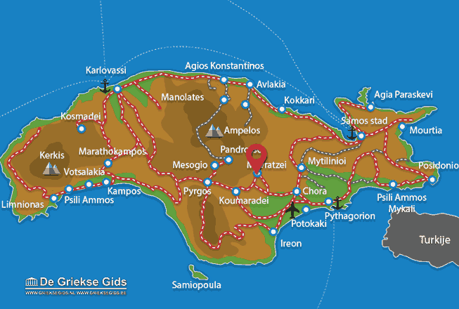Karte Mavratzei
