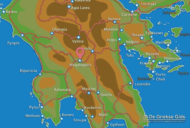 Karte Megalopoli