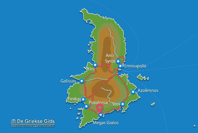 Karte Megas Gialos