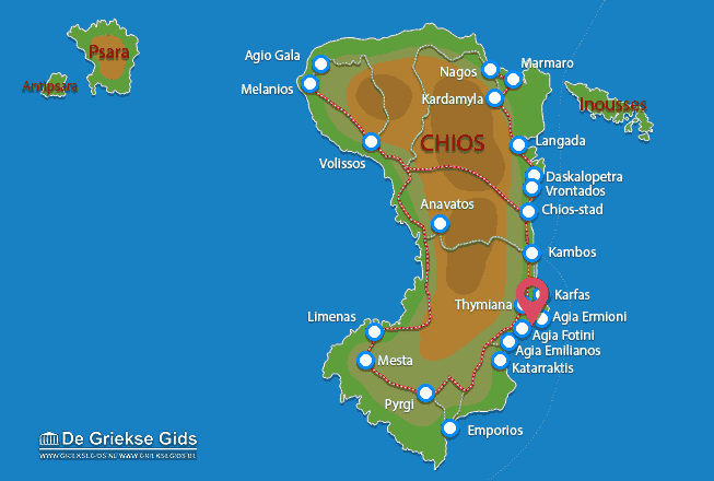 Karte Megas Limnionas