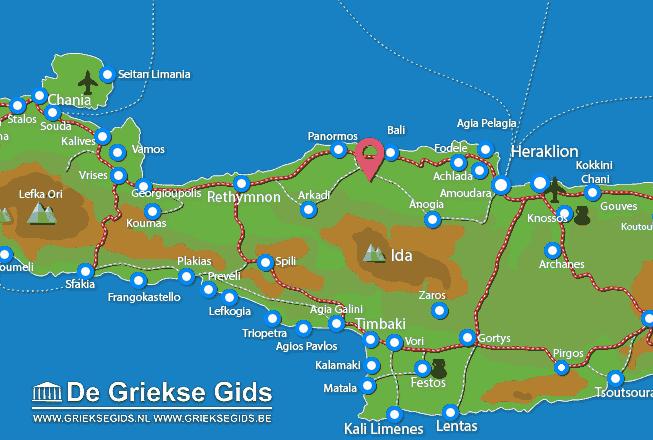 Karte Melidoni