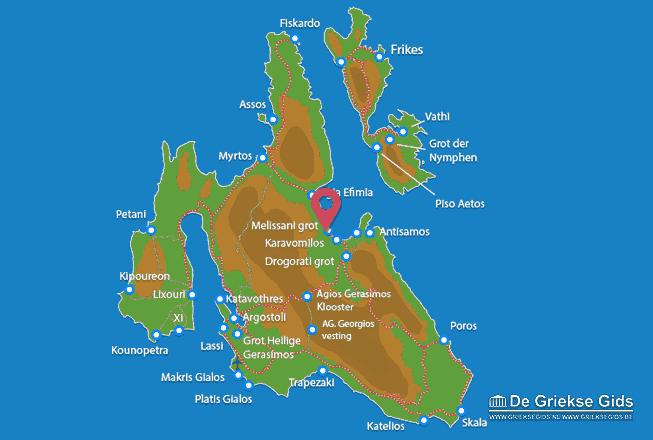 Karte Melissani