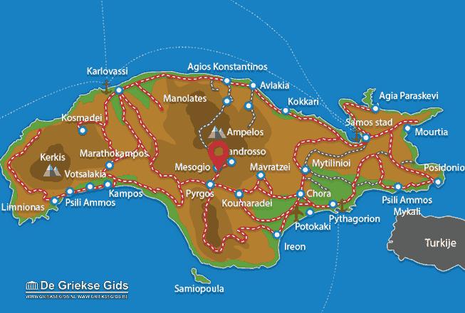 Karte Mesogio