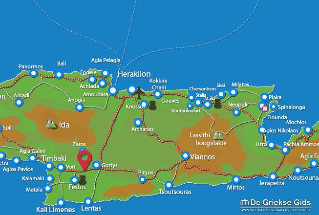 Karte Messara Ebene