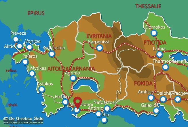 Karte Messolongi