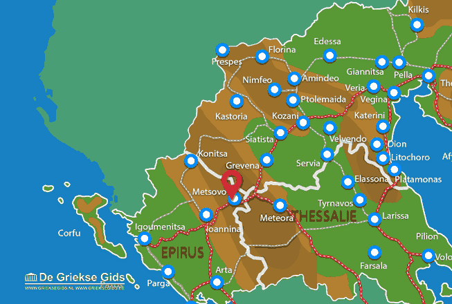 Karte Metsovo