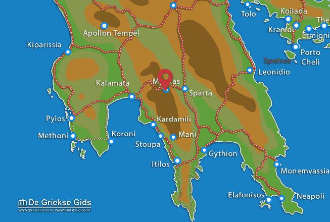 Karte Mystras