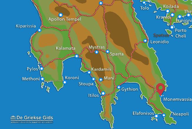 Karte Monemvasia